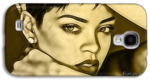 Rihanna Galaxy S4 Cases - Rihanna Collection Galaxy S4 Case by Marvin Blaine