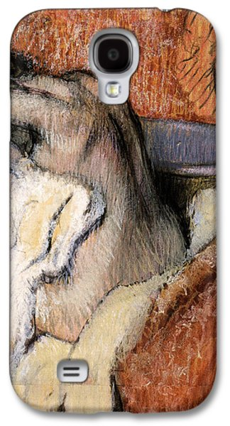 Nudes Pastels Galaxy S4 Cases - Woman Drying Herself Galaxy S4 Case by Edgar Degas