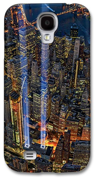 911 Nyc Tribute In Light Galaxy S4 Case by Susan Candelario