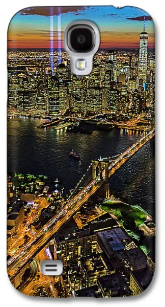 911 Tribute In Lights At Nyc Galaxy S4 Case by Susan Candelario