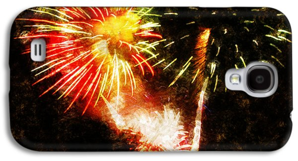 4th July Paintings Galaxy S4 Cases - A 4TH Celebration  Galaxy S4 Case by Adam Vance