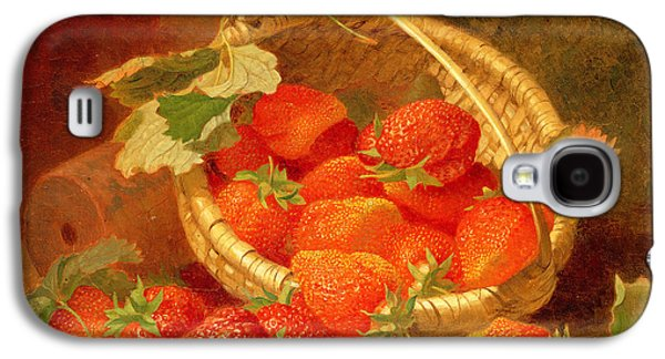 A Basket Of Strawberries On A Stone Ledge Galaxy S4 Case by Eloise Harriet Stannard