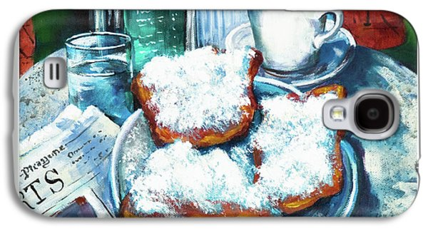 French Quarter Paintings Galaxy S4 Cases - A Beignet Morning Galaxy S4 Case by Dianne Parks