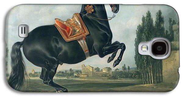 A Black Horse Performing The Courbette Galaxy S4 Case by Johann Georg Hamilton