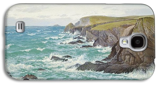 A Blustery Day Off The Cornish Coast Galaxy S4 Case by Celestial Images
