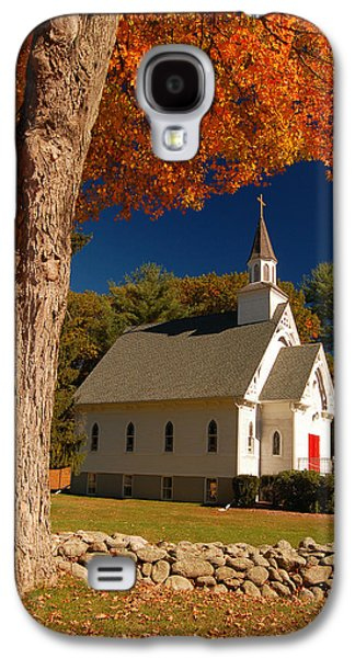 Religious Galaxy S4 Cases - A Chapel of Autimn Galaxy S4 Case by James Kirkikis