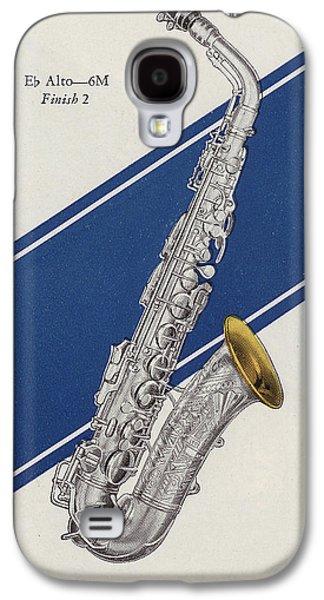 A Charles Gerard Conn Eb Alto Saxophone Galaxy S4 Case by American School