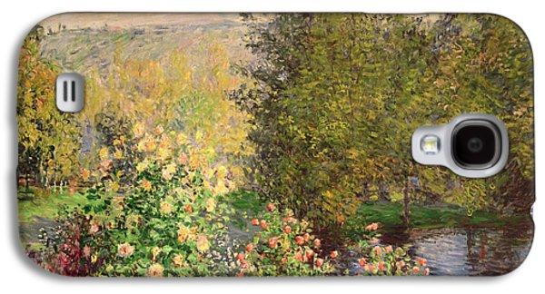 Summer Light Galaxy S4 Cases - A Corner of the Garden at Montgeron Galaxy S4 Case by Claude Monet