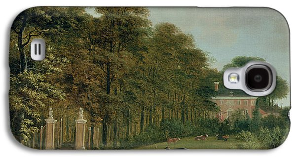 Country Paintings Galaxy S4 Cases - A Country House Galaxy S4 Case by J Hackaert