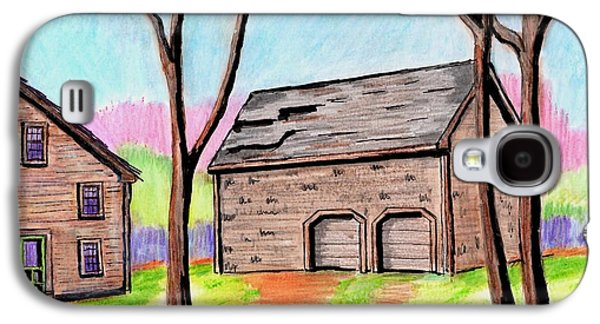 Old Barn Drawing Drawings Galaxy S4 Cases - A Danvers Barn Galaxy S4 Case by Paul Meinerth