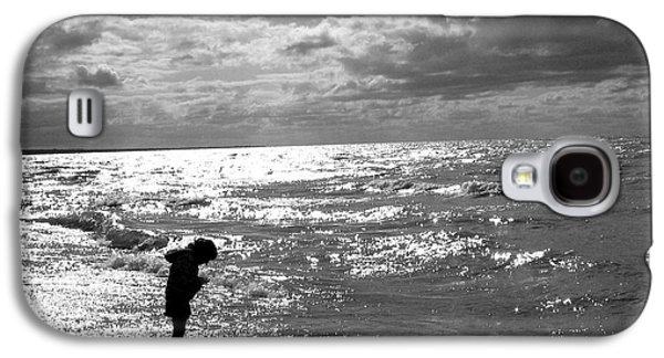 Original Art Photographs Galaxy S4 Cases - A Day at the Beach Silhouette Galaxy S4 Case by Stephen  Killeen