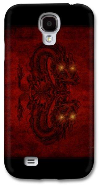 Animation Galaxy S4 Cases - A Dragons Hiss Galaxy S4 Case by Majula Warmoth