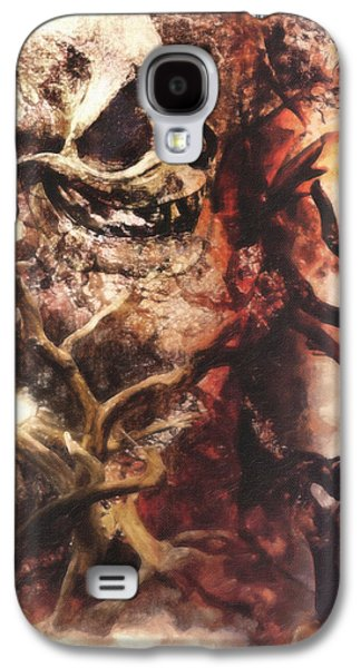 Macabre Digital Galaxy S4 Cases - A Fantastical View of the Moon Galaxy S4 Case by Jacob King