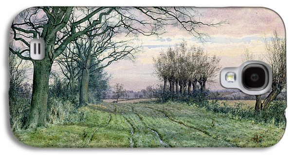 A Fenland Lane With Pollarded Willows Galaxy S4 Case by William Fraser Garden