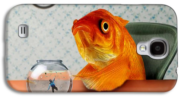 Surrealism Galaxy S4 Cases - A Fish Out Of Water Galaxy S4 Case by Carrie Jackson