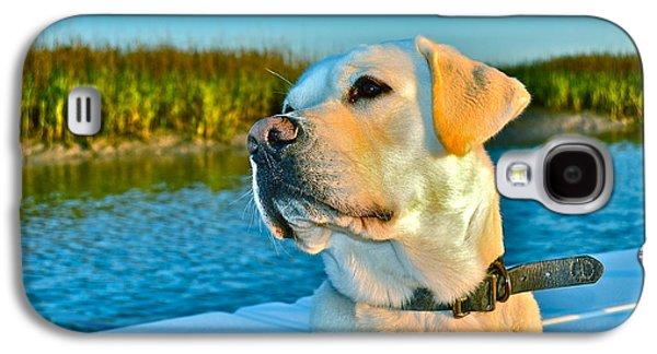 Puppy Digital Galaxy S4 Cases - A fishermans best friend Galaxy S4 Case by Jay Talbot