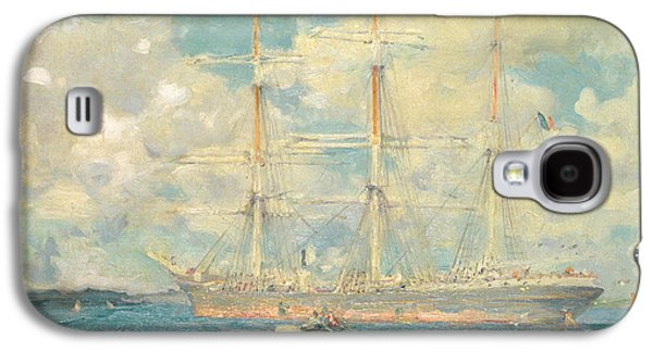 A French Barque In Falmouth Bay Galaxy S4 Case by Henry Scott Tuke