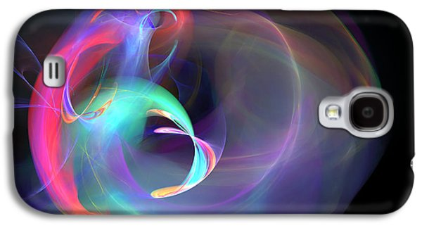 Blue Abstracts Galaxy S4 Cases - A Gift From A Flower Galaxy S4 Case by Brainwave Pictures