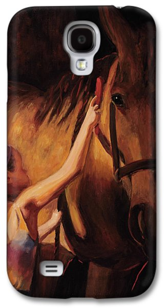 Girl Galaxy S4 Cases - A Girls First Love Galaxy S4 Case by Billie Colson