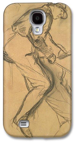 Sports Pastels Galaxy S4 Cases - A Jockey Galaxy S4 Case by Edgar Degas