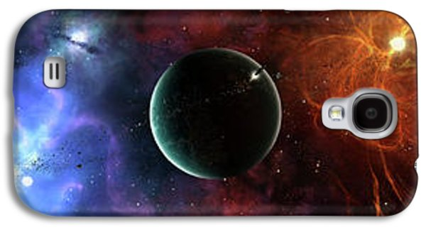 Intergalactic Space Galaxy S4 Cases - A Massive And Crowded Universe Galaxy S4 Case by Brian Christensen
