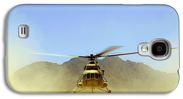 Hovering Galaxy S4 Cases - A Mi-17 Hip Helicopter Hovers Galaxy S4 Case by Stocktrek Images