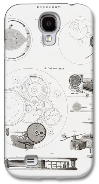 Mechanism Galaxy S4 Cases - A Musical Watch By The Clockmaker Galaxy S4 Case by Ken Welsh