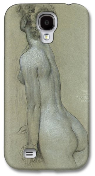 Nudes Pastels Galaxy S4 Cases - A Naiad in The Lament for Icarus Galaxy S4 Case by Herbert James Draper