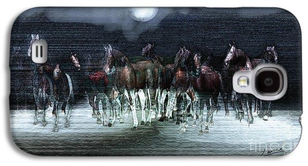 A Night Of Wild Horses Galaxy S4 Case by Lance Sheridan-Peel
