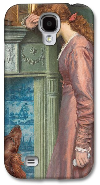 Woman Head Galaxy S4 Cases - A Passing Cloud Galaxy S4 Case by Arthur Hughes