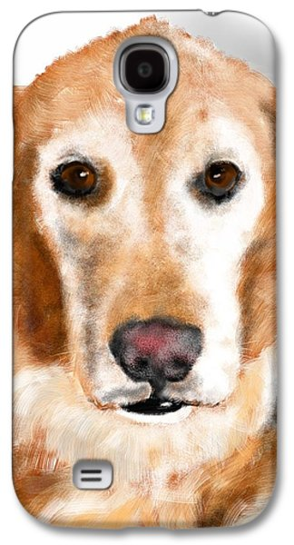 Dogs Digital Galaxy S4 Cases - A Pensive Golden  Galaxy S4 Case by Lois Ivancin Tavaf