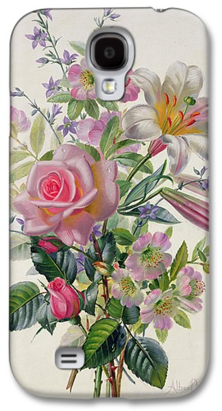 Recently Sold -  - Botanical Galaxy S4 Cases - A Pink Bouquet Galaxy S4 Case by Albert Williams