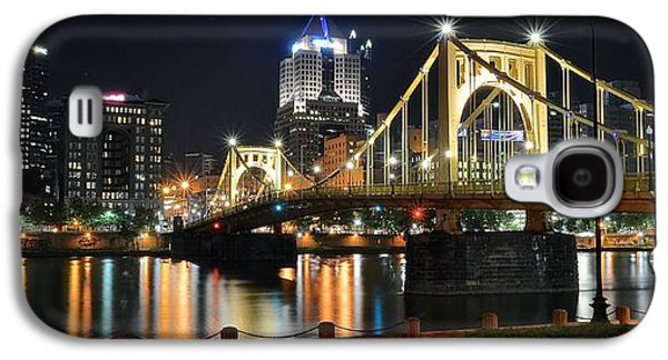 Pennsylvania Baseball Parks Galaxy S4 Cases - A Pittsburgh Panorama Galaxy S4 Case by Frozen in Time Fine Art Photography