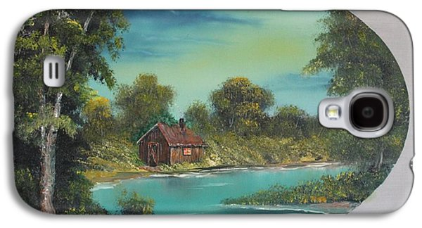 Bob Ross Paintings Galaxy S4 Cases - A Place to Reflect Galaxy S4 Case by Bob Williams