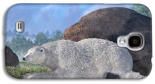 Bear Digital Galaxy S4 Cases - A Polar Bear in Spring Galaxy S4 Case by Daniel Eskridge