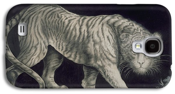 A Prowling Tiger Galaxy S4 Case by Elizabeth Pringle