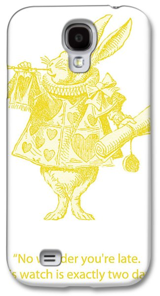 Rabbit Digital Galaxy S4 Cases - A Punctual Rabbit Galaxy S4 Case by Nomad Art And  Design