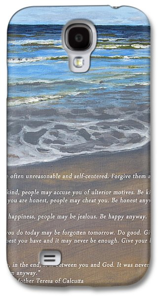 Moral Paintings Galaxy S4 Cases - A Reason to Give Galaxy S4 Case by Stephen Williamson
