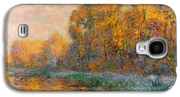 River Paintings Galaxy S4 Cases - A River in Autumn Galaxy S4 Case by Gustave Loiseau
