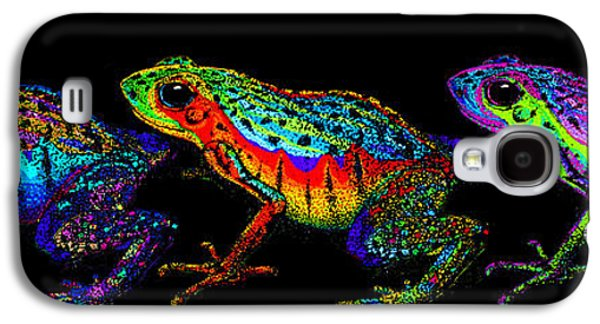 A Row Of Rainbow Frogs Galaxy S4 Case by Nick Gustafson