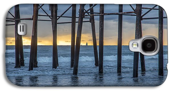 Beach Landscape Galaxy S4 Cases - A Sailboat Au Piers Galaxy S4 Case by Peter Tellone