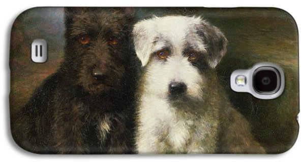 A Scottish And A Sealyham Terrier Galaxy S4 Case by Lilian Cheviot
