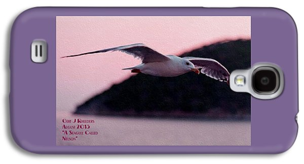 Abstract Digital Pastels Galaxy S4 Cases - A Seagull Called Nelson H A Galaxy S4 Case by Gert J Rheeders