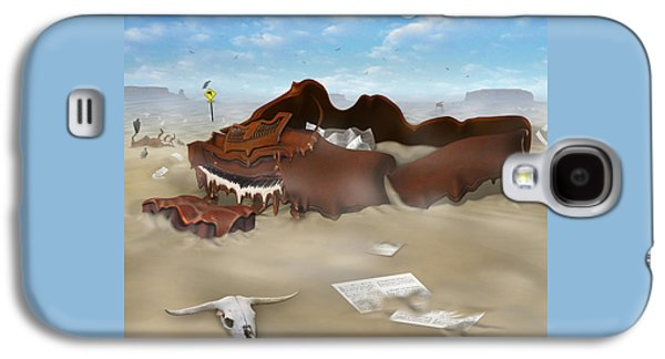 A Slow Death In Piano Valley Sq Galaxy S4 Case by Mike McGlothlen