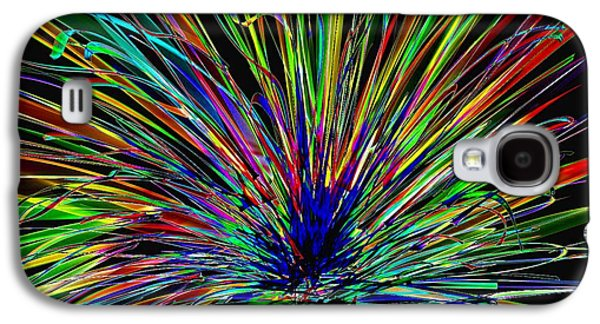 Abstract Digital Drawings Galaxy S4 Cases - Manic  Galaxy S4 Case by Rick Purtle