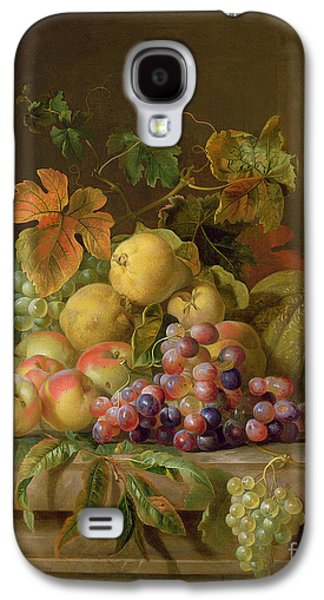 A Still Life Of Melons Grapes And Peaches On A Ledge Galaxy S4 Case by Jakob Bogdani