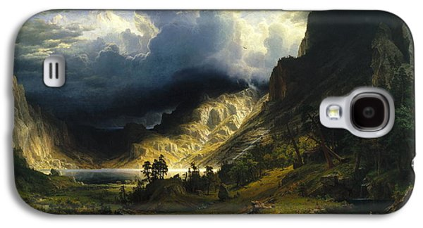 A Storm In The Rocky Mountains Mt. Rosalie, 1866 Galaxy S4 Case by Albert Bierstadt