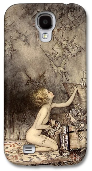 A Sudden Swarm Of Winged Creatures Brushed Past Her Galaxy S4 Case by Arthur Rackham