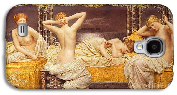 Lesbian Paintings Galaxy S4 Cases - A Summer Night Galaxy S4 Case by Albert Joseph Moore