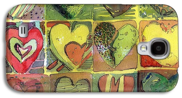 Sunny Mixed Media Galaxy S4 Cases - A Sunny Valentine Galaxy S4 Case by Mindy Newman
